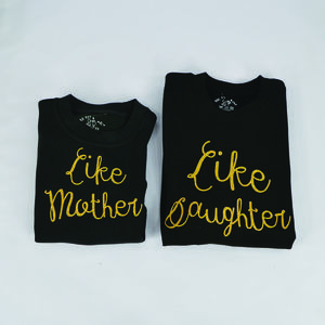 'Like Mother Like Daughter' Black Sweatshirt Set - women's fashion