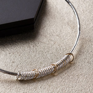 30th Birthday Bangle In 9ct Gold And Sterling Silver - birthday gifts