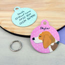 Beagle Personalised Pet ID Tag