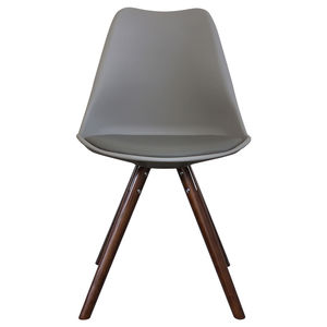 Cool Grey Copenhagen Chair With Walnut Wooden Legs
