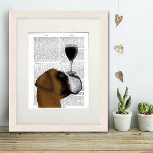 Boxer Print, Dog Au Vin Book Print - animals & wildlife