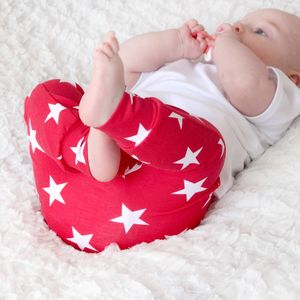 Unisex Red Star Print Child And Baby Leggings