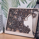 Dublin Multi Layer Wood Map. Customisable