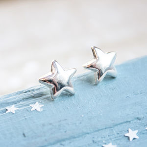 Little Silver Star Stud Earrings - earrings