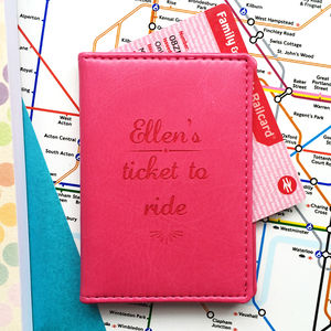 Ticket To Ride Personalised Oyster Travel Card Cover - womens