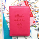 Ticket To Ride Personalised Oyster Travel Card Cover