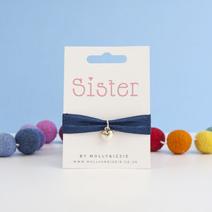 A Handmade Stretchy Charm Bracelet Gift For Sister