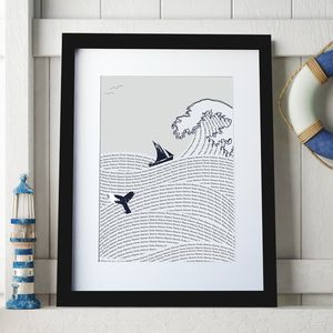 Personalised Sea Waves Art Print - new in
