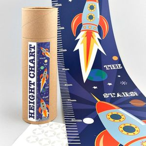 Rocket Height Chart With Stickers - children's room