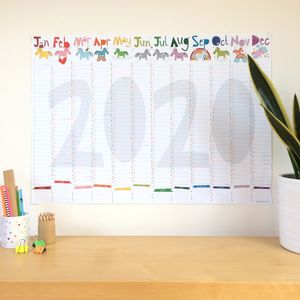 2020 Large Unicorn Wall Planner Calendar