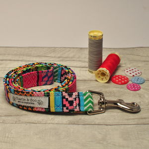 Multi Colour Dog Lead For Girl Or Boy Dogs - dog leads & harnesses
