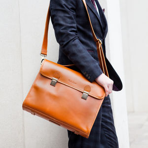 Leather Work Bag 'Waring' - laptop bags & cases