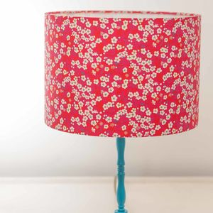 Liberty Blossom Print Handmade Drum Lampshade - lighting