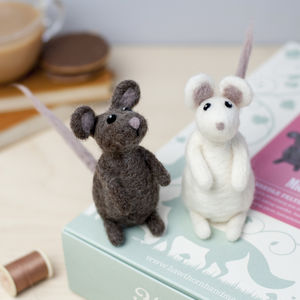 Mice Needle Felting Craft Kit - craft-lover