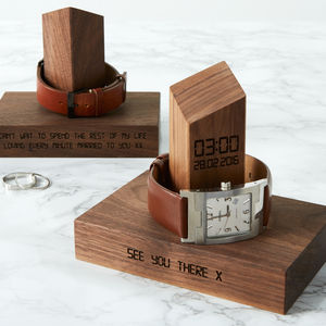 Personalised Time And Date Watch Stand - valentine's gifts for him