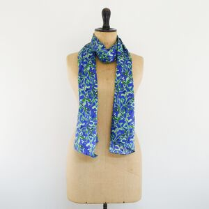 Midnight Mistletoe Print Luxury Silk Scarf