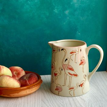 Pink Flamingo Serving Jug