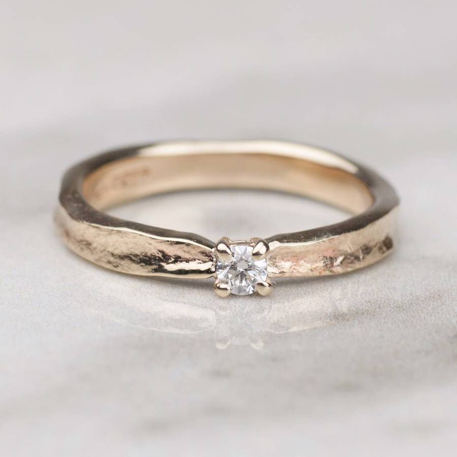 thumbelina solid gold diamond engagement ring by alison ...