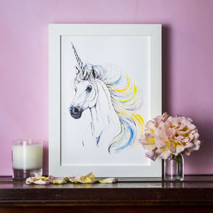 Personalised Rainbow Unicorn Print