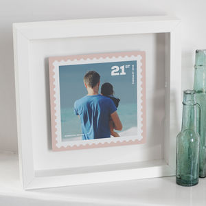 Personalised Floating Metal Postage Stamp Photo - children's pictures & paintings