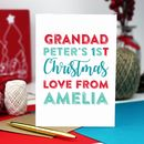 Grandma First Christmas Personalised Greeting Card