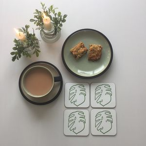Cheese Plant Coaster Set - placemats & coasters