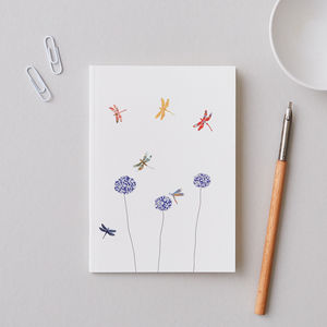 Small A6 Dragonfly Notebook - whats new