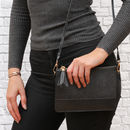 Luxury Leather Personalised Clutch Or Shoulder Bag
