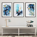 Modern Abstract Wall Art Large Set Of Three Art Prints