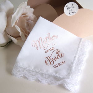 Personalised Handkerchief Mother Of The Bride