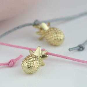 Gold Plated Pineapple Wish Bracelet - bracelets & bangles