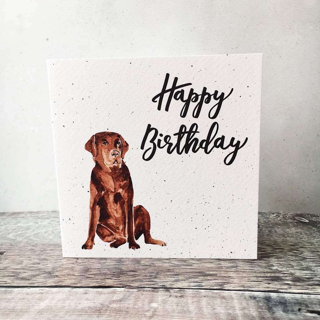 Happy Birthday Labrador Card