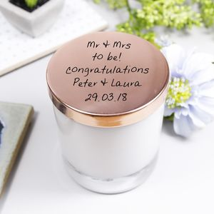Engagement Scented Candle With Lid Gift