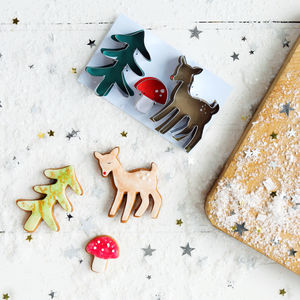 Christmas Woodland Cookie Cutters - toys & games