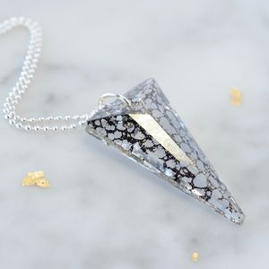 Crystal Spike Pendant - statement necklaces