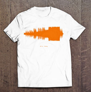 Men's Personalised Sound Wave T Shirts - winter sale