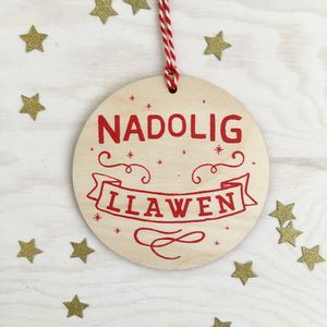 Nadolig Llawen Tree Decoration - view all decorations