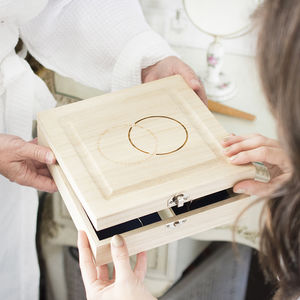 Something Old Something New Two Rings Keepsake Box - gifts for the bride