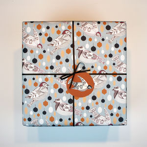 Gift Wrapping Paper Christmas Birds