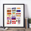 'Framed Favourite Sweets Print'