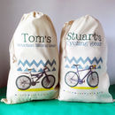 Personalised Cycling Storage Bag, also showing our Personalised Mountain Biking Storage Sack