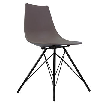Oslo Chair Slate With Black Metal Legs
