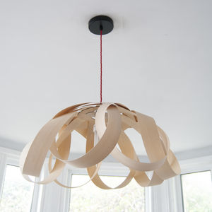Wooden Petal Pendant Lampshade - office & study