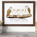 Personalised Family Portrait Barn Owl Print