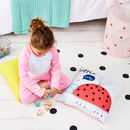 Children's Personalised Pastel Ladybird Cushion