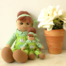 Mother And Daughter Gardening Dolls