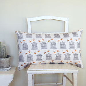 Large Rectangle Beehive Cushion - living room