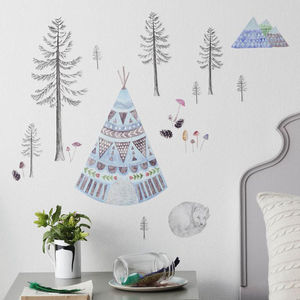 Lets Go Camping Fabric Wall Decal