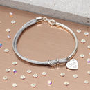 Personalised Diamond And Sterling Silver Silk Bangle