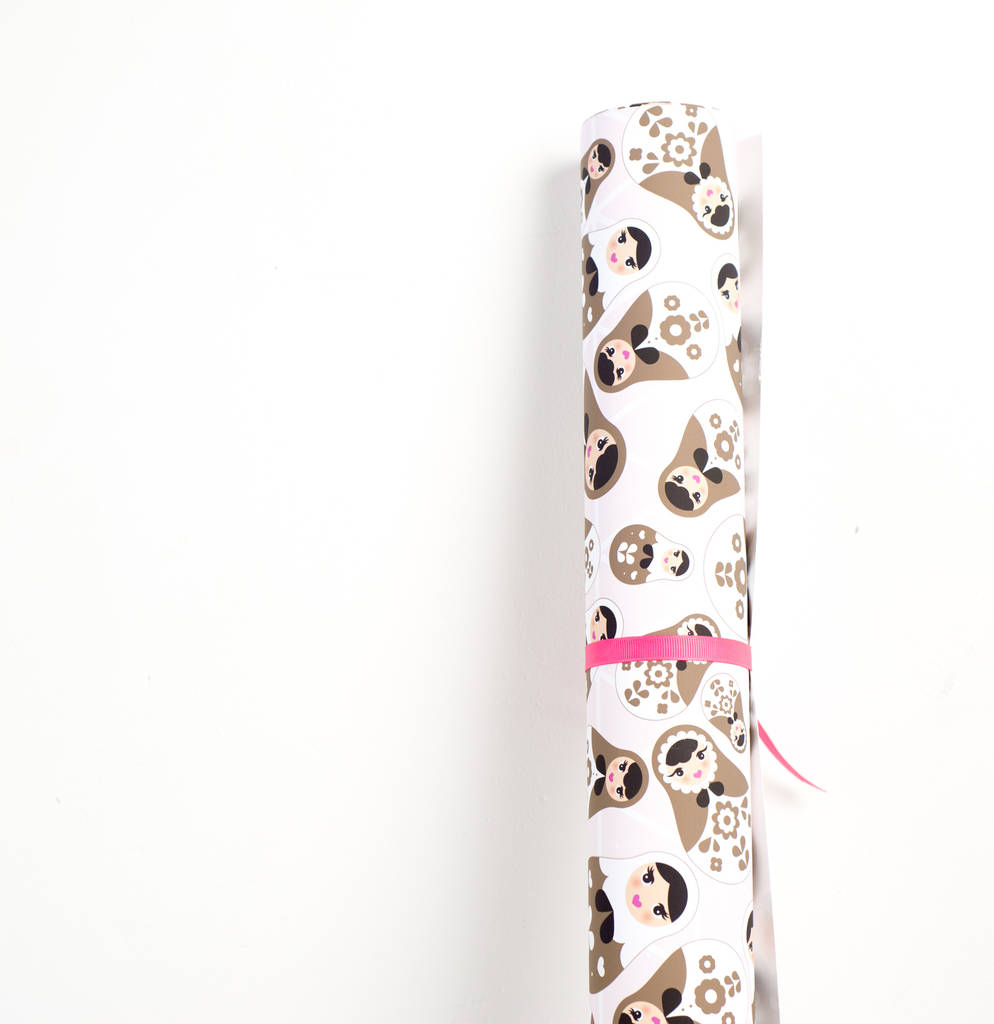 Luxury Russian Doll Wrapping Paper